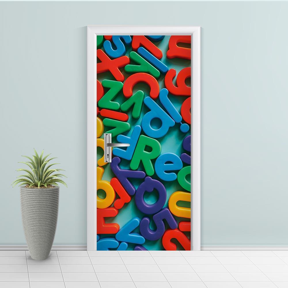 Adesivo de Porta Letras Colorido 1