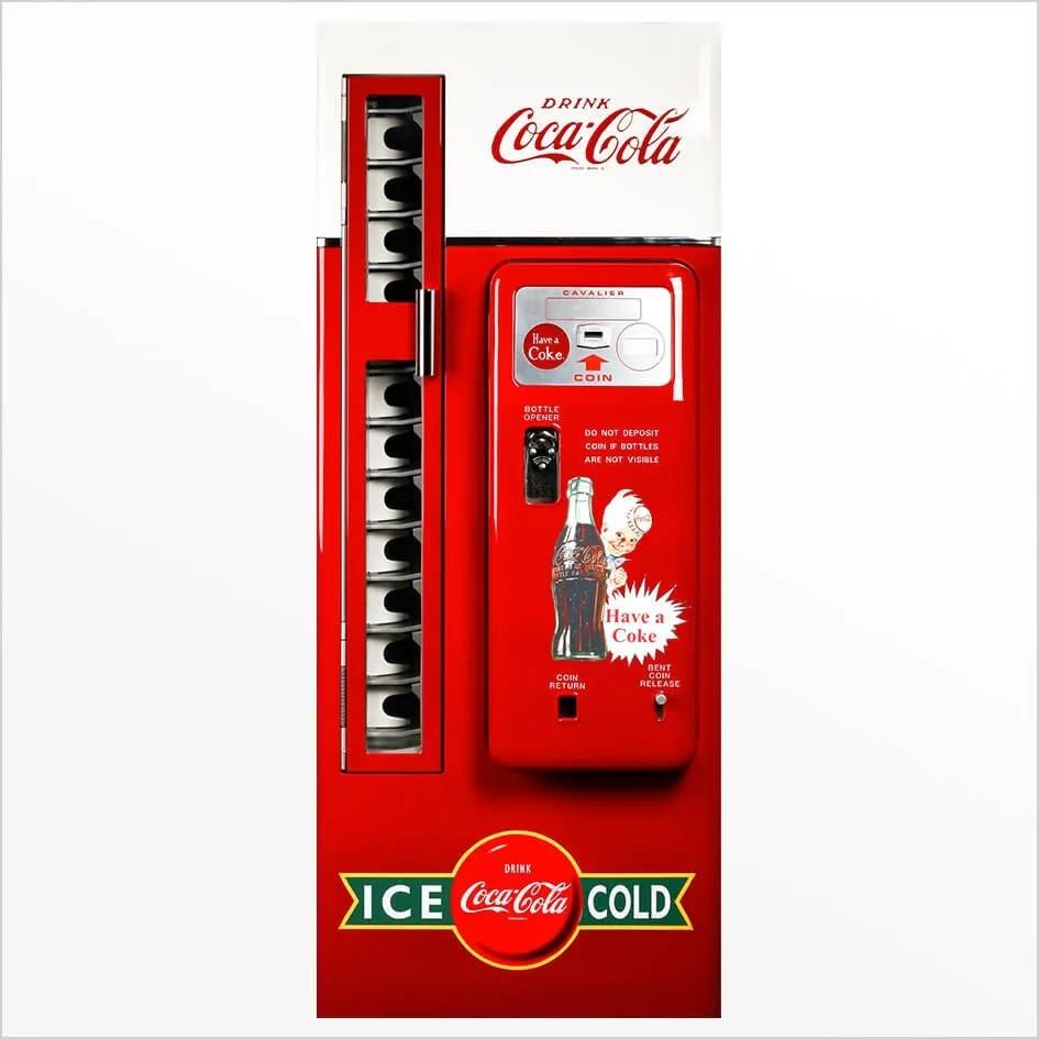 Adesivo de Porta Maquina Coca-Cola