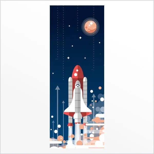 Adesivo de porta Nave Espacial
