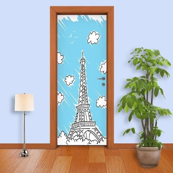 Adesivo de Porta Paris 3