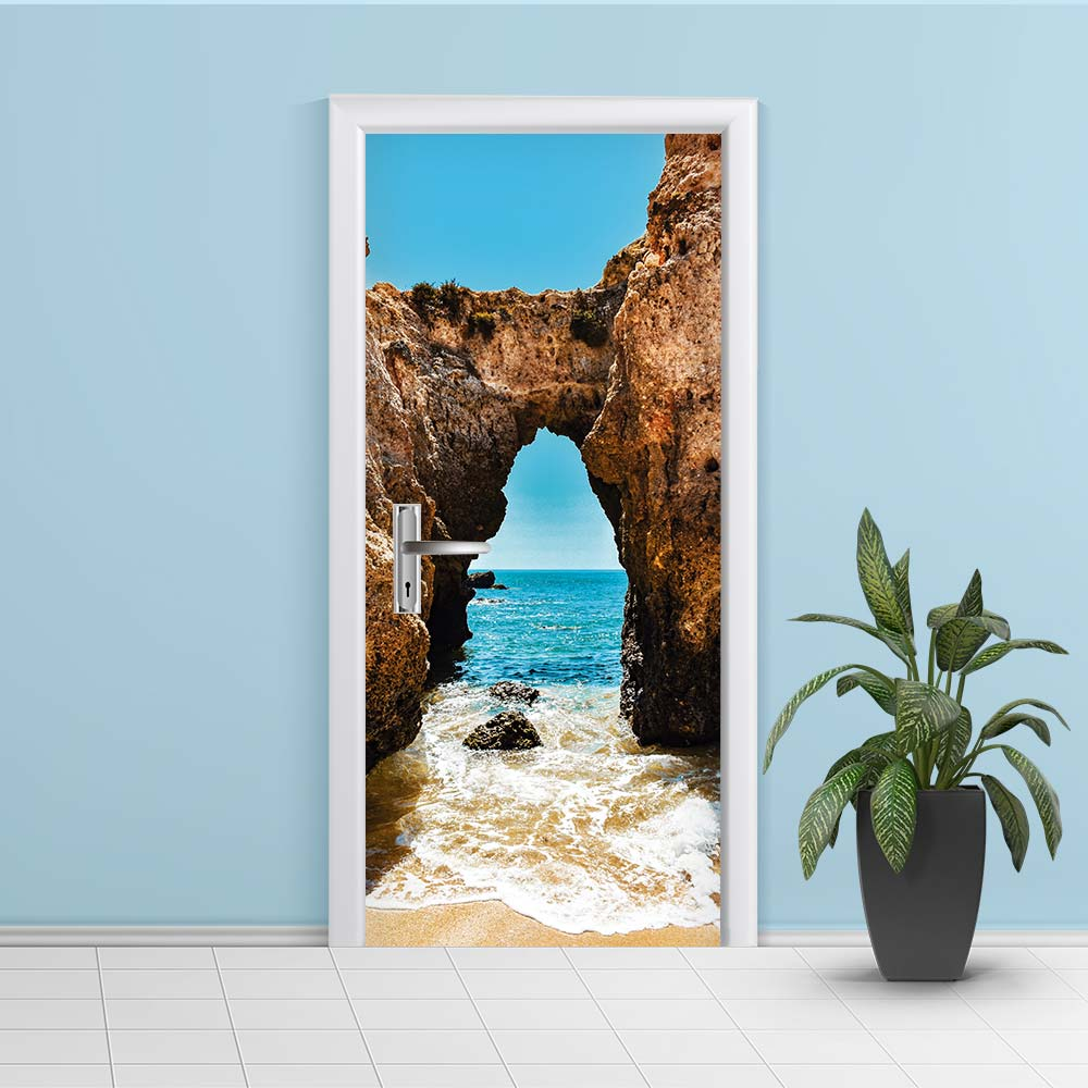 Adesivo de Porta Praia 6