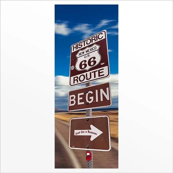 Adesivo de Porta Route 66