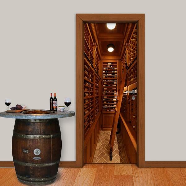Adesivo de Porta Vinhos