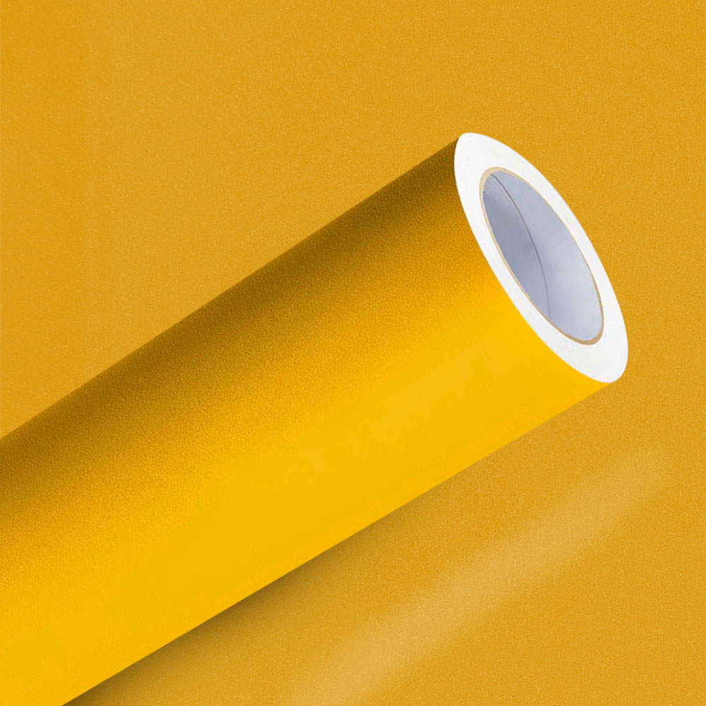 Adesivo para Envelopamento Amarelo Taubate Jateado