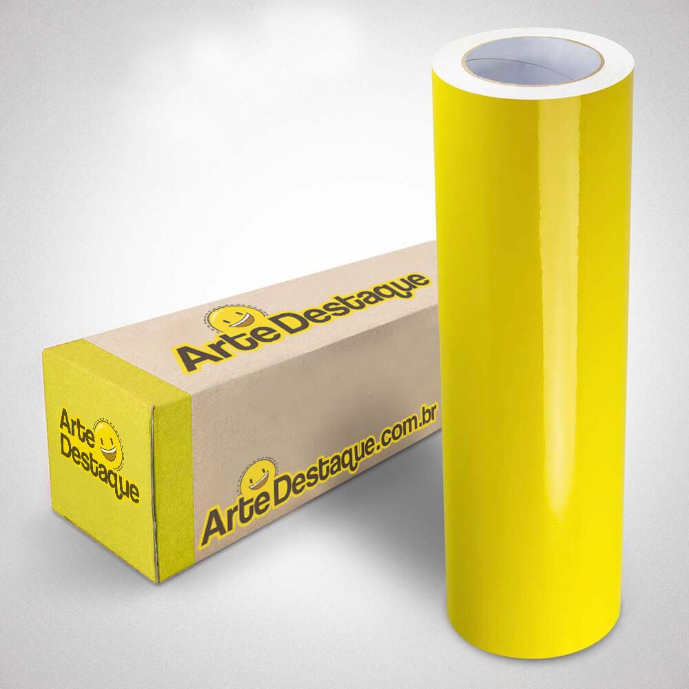 Adesivo Para Envelopamento Brilho Premium Amarelo Canário