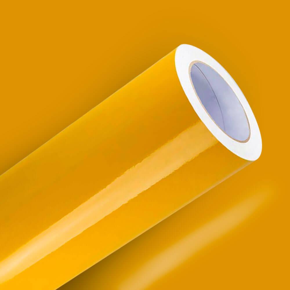 Adesivo Para Envelopamento Brilho Premium Amarelo Médio