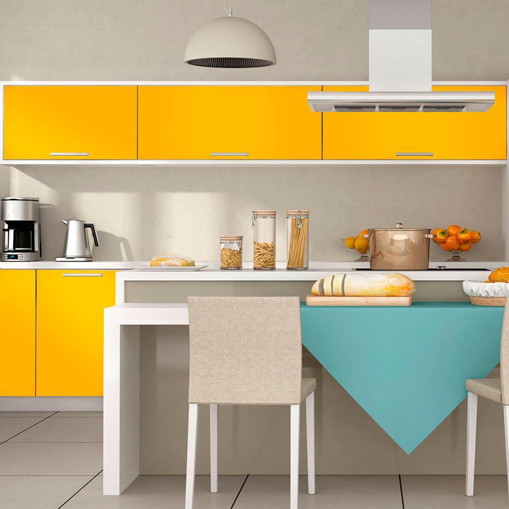 Adesivo Para Envelopamento Alltak Brilho Premium Amarelo Médio