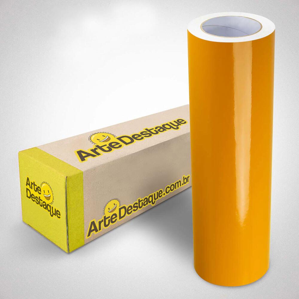 Adesivo Para Envelopamento Brilho Premium Amarelo Ouro