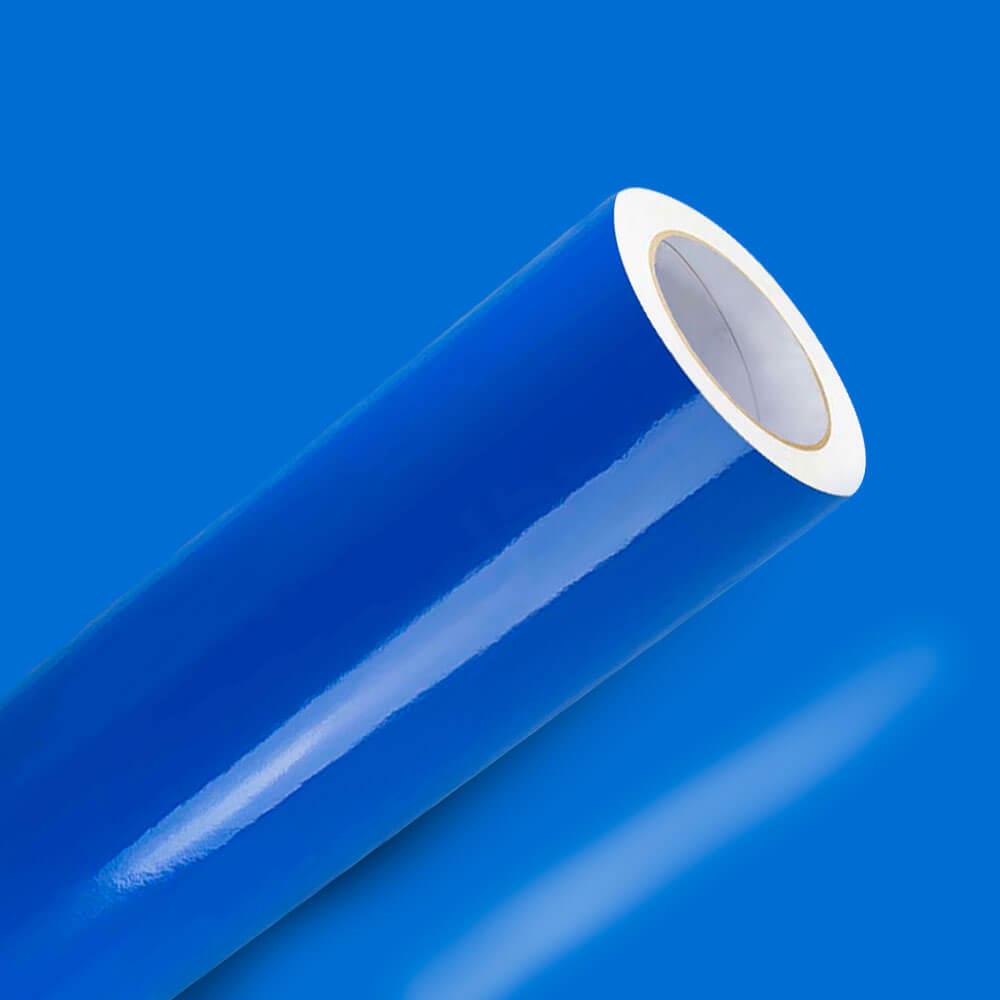 Adesivo Para Envelopamento Brilho Premium Azul Celeste