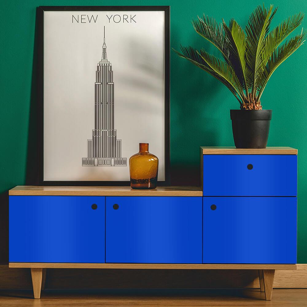 Adesivo Para Envelopamento Alltak Brilho Premium Azul Olímpico