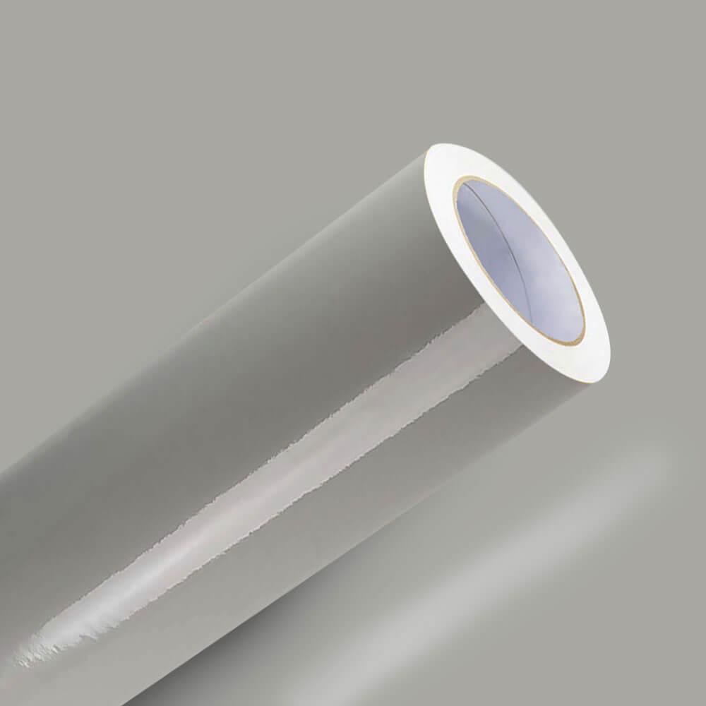 Adesivo Para Envelopamento Brilho Premium Cinza Claro