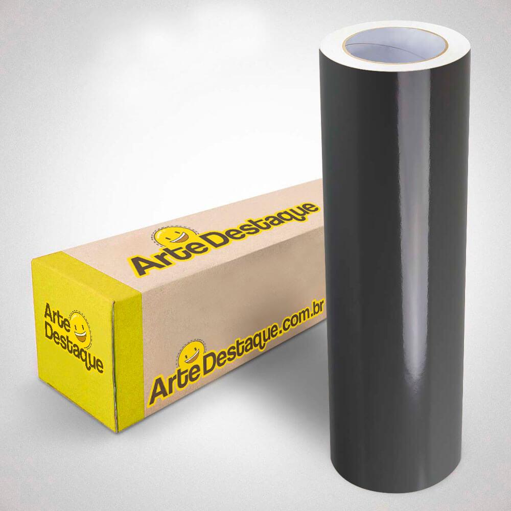 Adesivo Para Envelopamento Brilho Premium Cinza Escuro