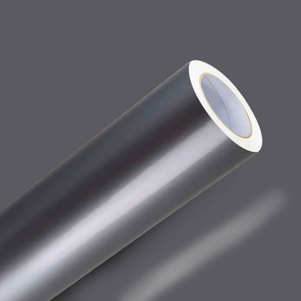 Adesivo Para Envelopamento Brilho Premium Cinza Prata