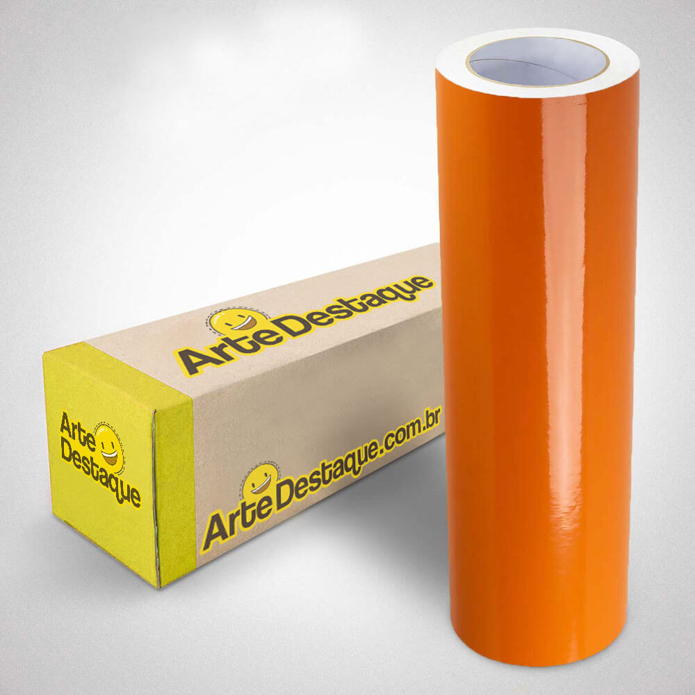 Adesivo Para Envelopamento Brilho Premium Laranja