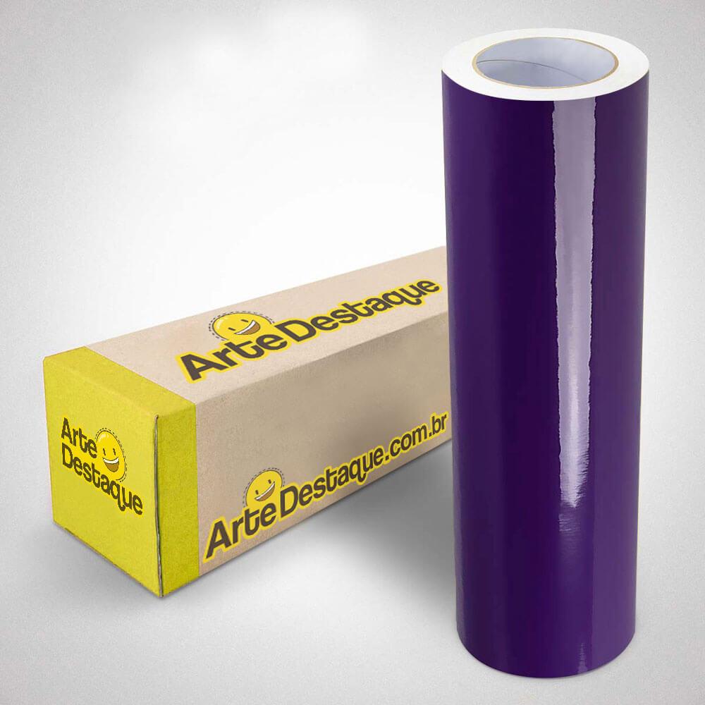 Adesivo Para Envelopamento Brilho Premium Roxo