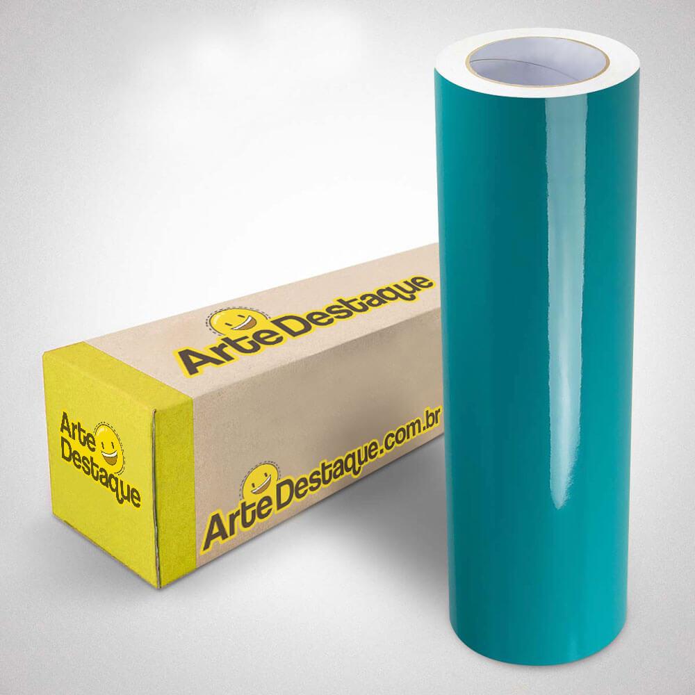 Adesivo Para Envelopamento Alltak Brilho Premium Verde Água