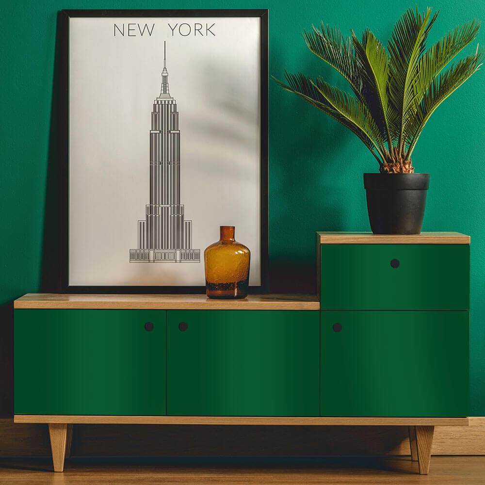 Adesivo Para Envelopamento Alltak Brilho Premium Verde Amazonas