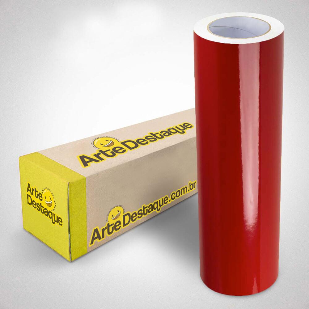 Adesivo Para Envelopamento Alltak Brilho Premium Vermelho Rubi
