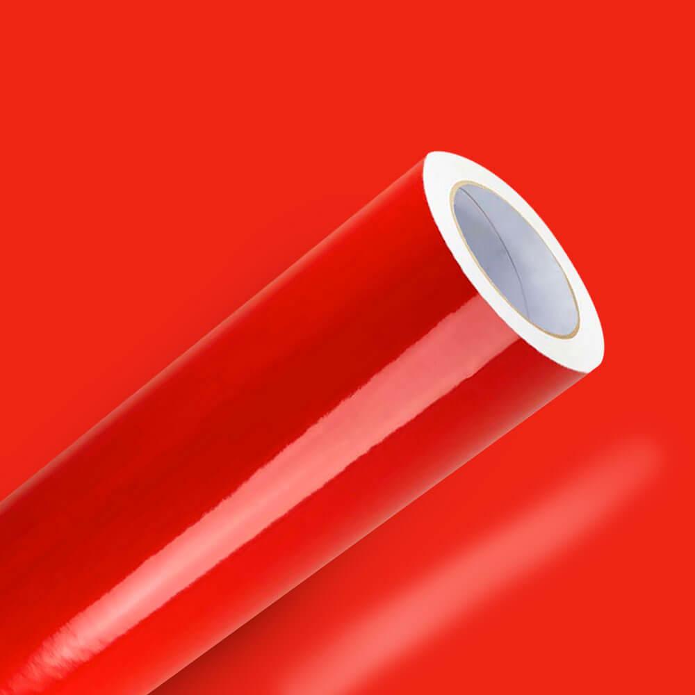Adesivo Para Envelopamento Brilho Premium Vermelho Tomate