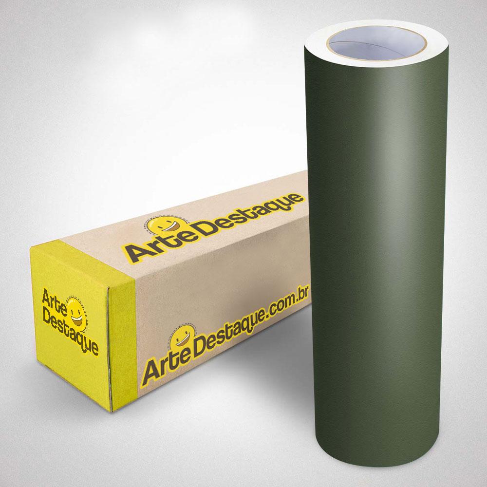 Adesivo para Envelopamento Alltak Verde Oliva Jateado