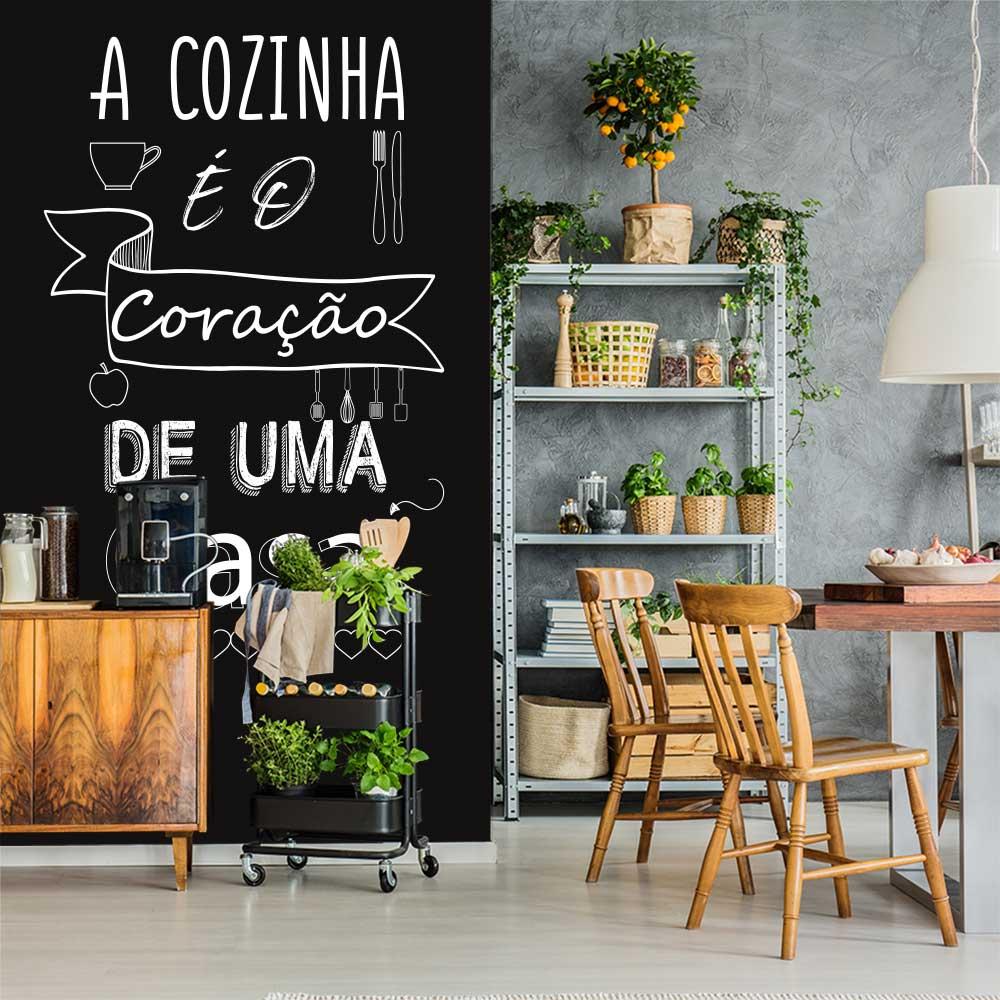 Adesivo Parede Frase A Cozinha é o Coração da Casa