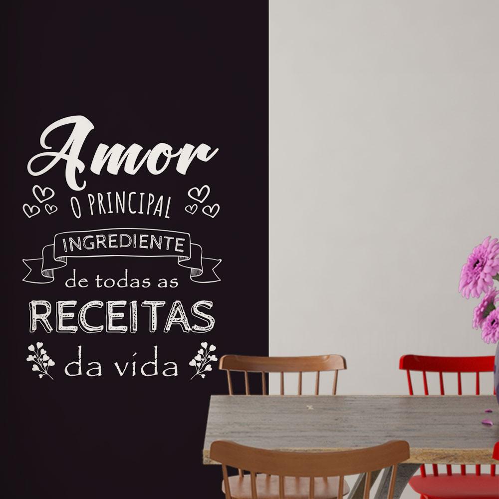 Adesivo Parede Frase Amor Principal Ingrediente