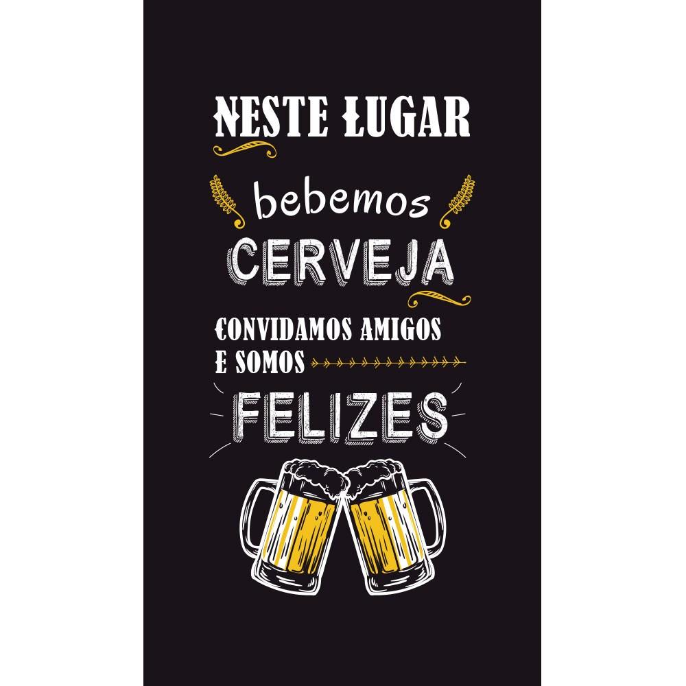 Adesivo Parede Frase Neste Lugar Bebemos Cerveja