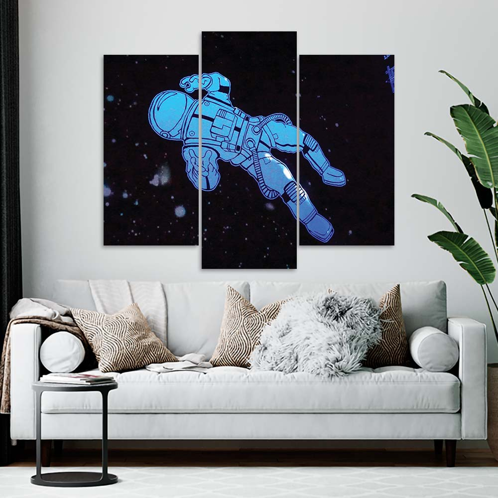 Kit 3 Placas Decorativas Mosaico - Astronauta