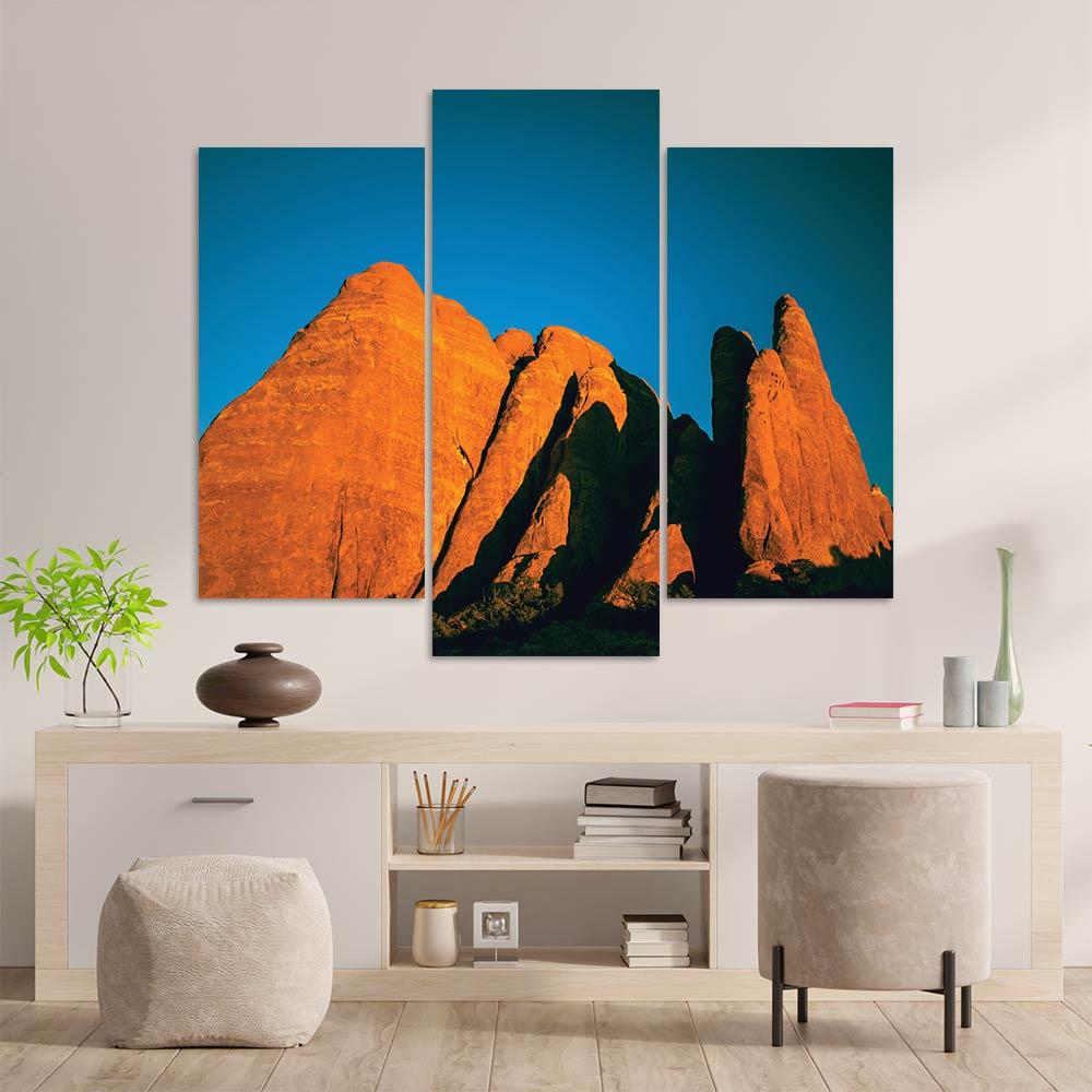 Kit 3 Placas Decorativas Mosaico - Montanhas 5