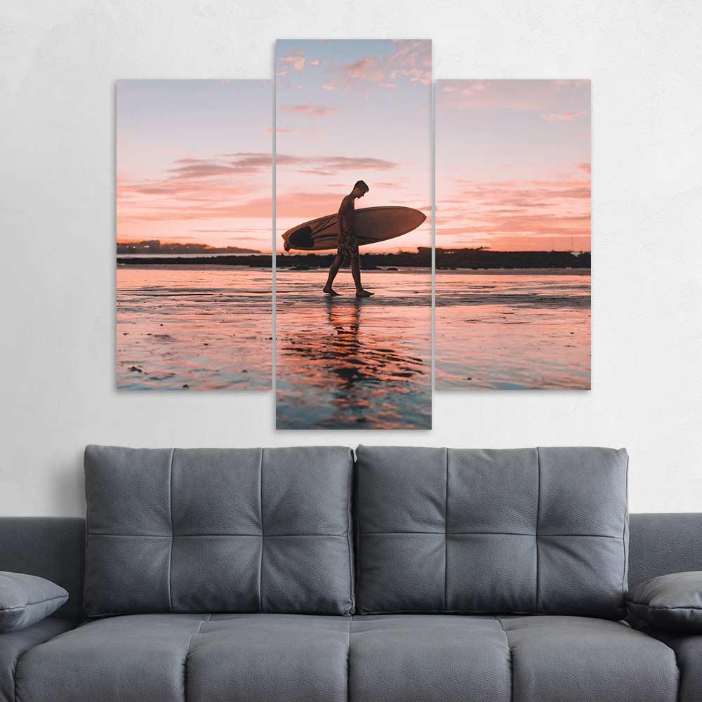 Kit 3 Placas Decorativas Mosaico - Surfista 2