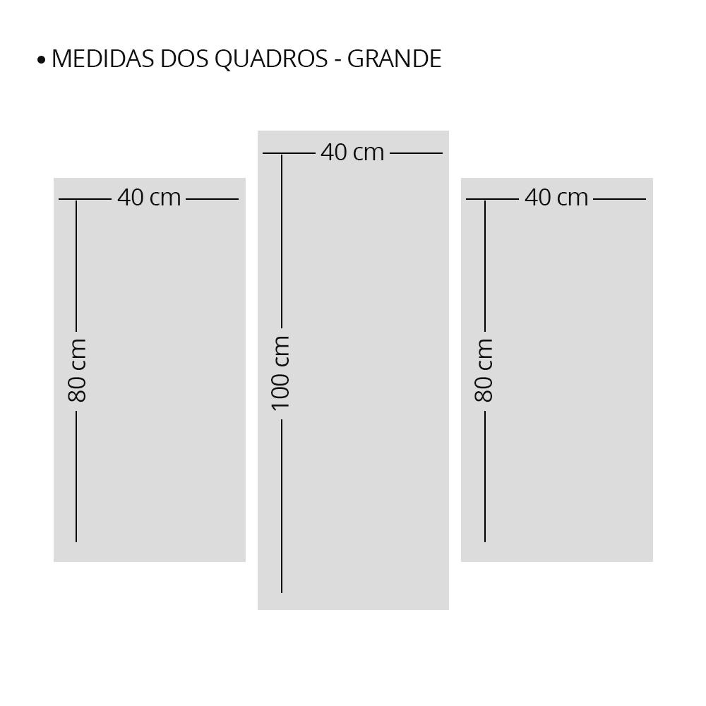 Kit 3 Placas Decorativas Mosaico - Torre Eiffel