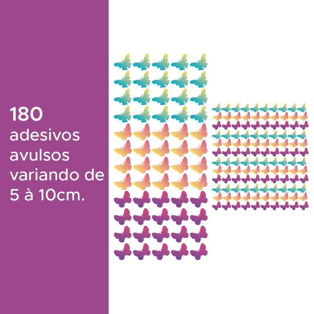 Kit de Adesivos Infantis Borboletas