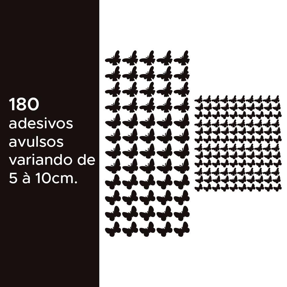 Kit de Adesivos Infantis Borboletas Pretas