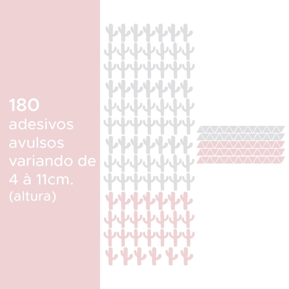 Kit de Adesivos Infantis Cactos e Triângulos 2