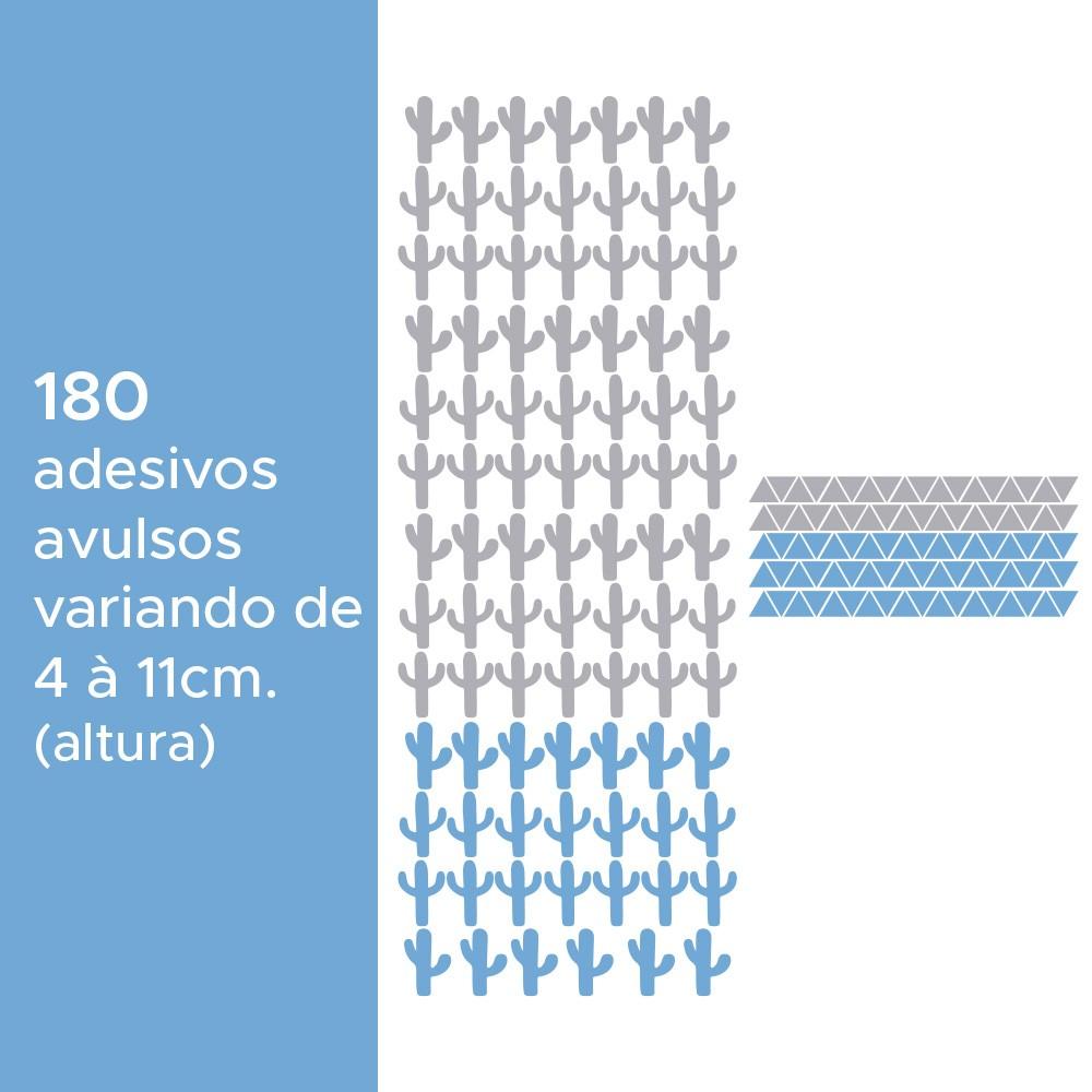 Kit de Adesivos Infantis Cactos e Triângulos 3