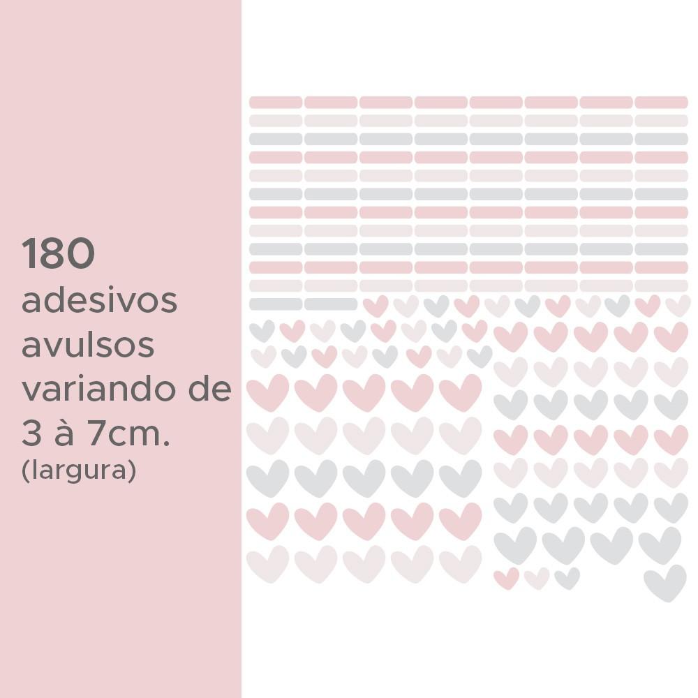 Kit de Adesivos Infantis Corações e Traços 1