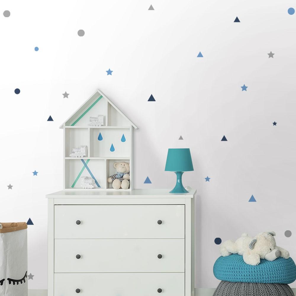 Kit de Adesivos Infantis Estrelas, Triângulos e Círculos 1