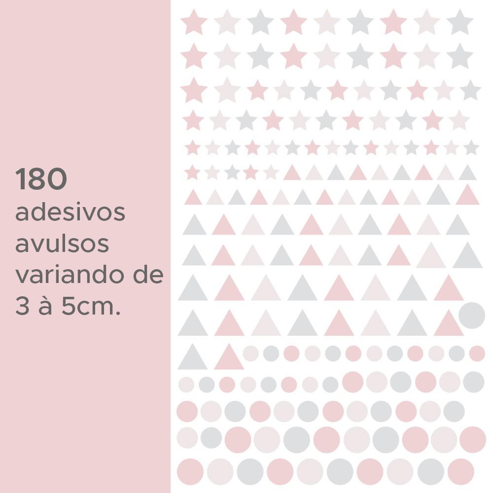 Kit de Adesivos Infantis Estrelas, Triângulos e Círculos 2