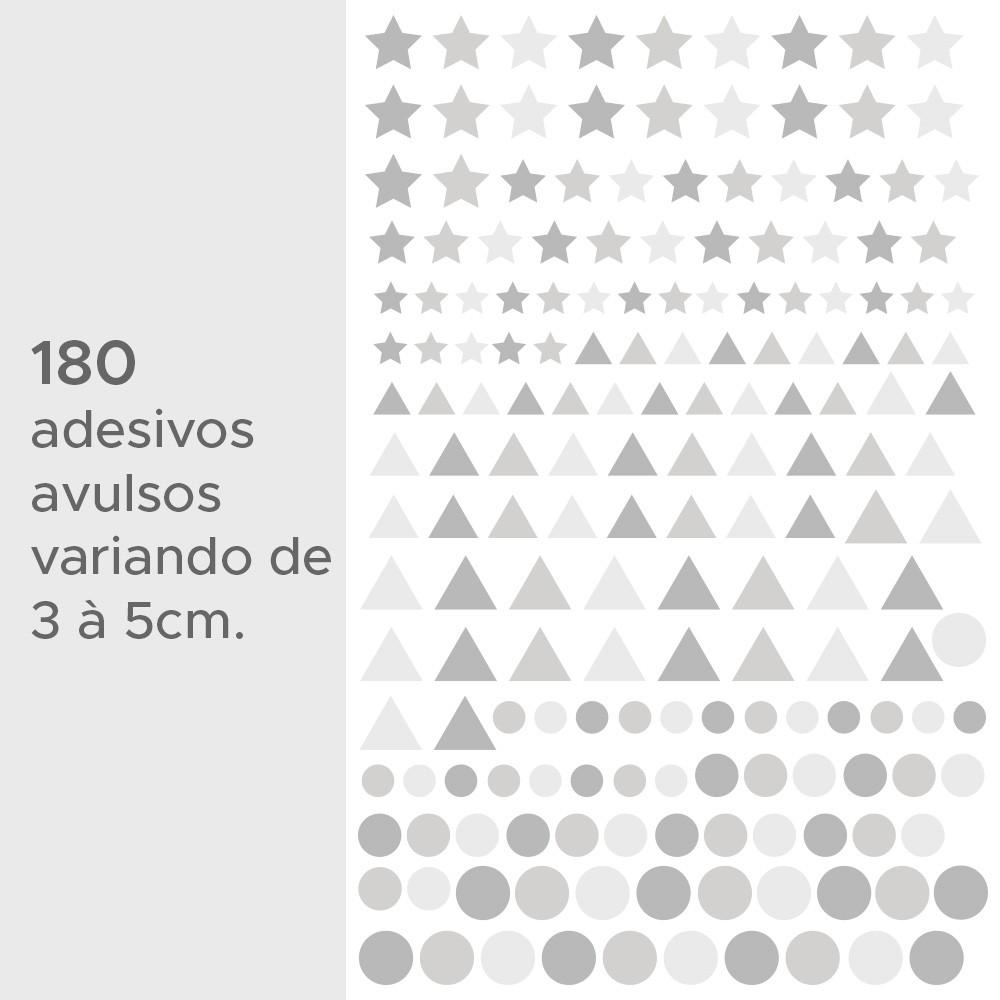 Kit de Adesivos Infantis Estrelas, Triângulos e Círculos 4