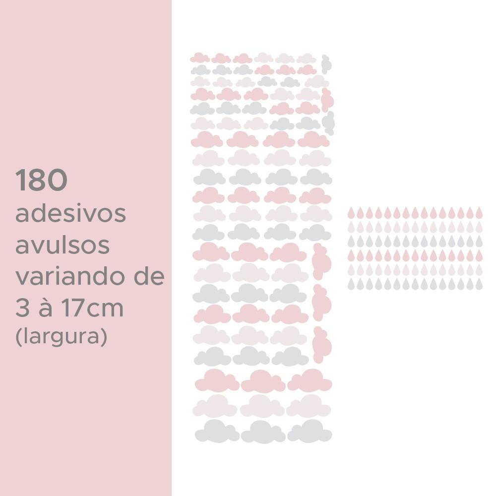 Kit de Adesivos Infantis Gotinhas e Nuvens 1