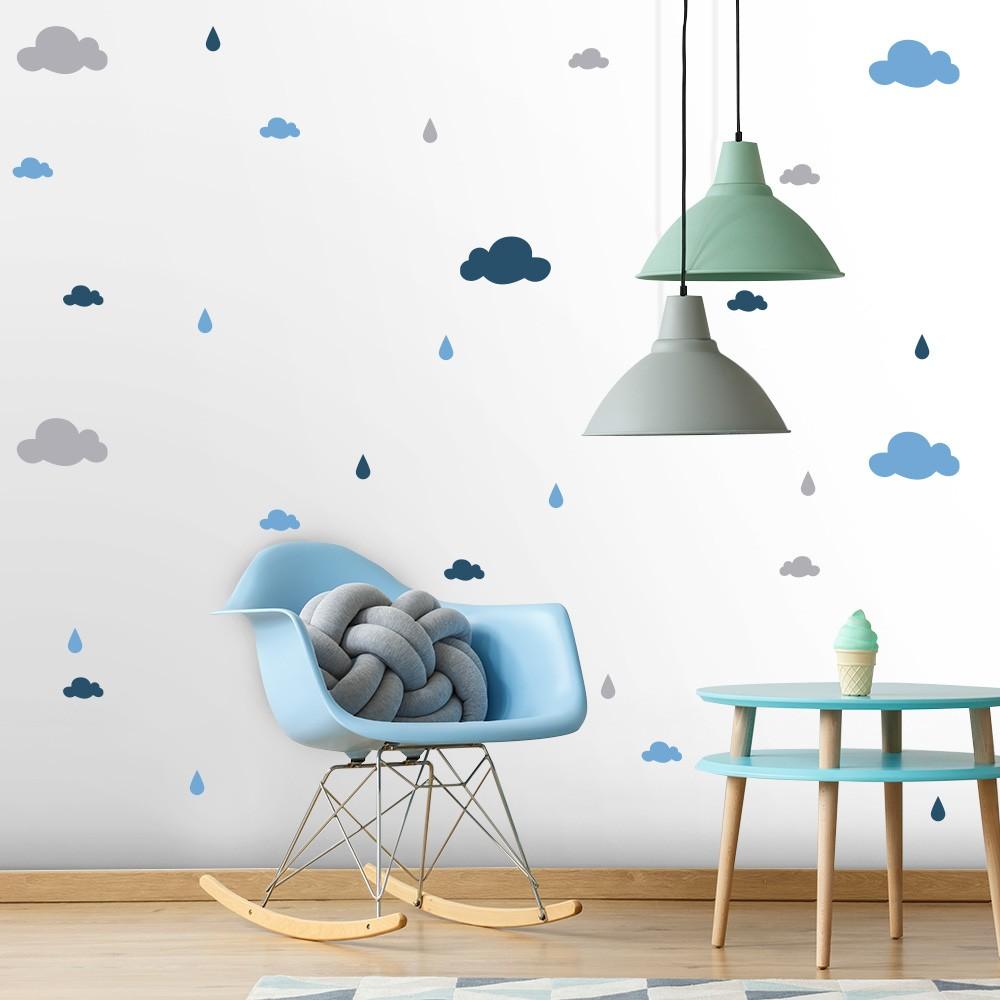 Kit de Adesivos Infantis Gotinhas e Nuvens 2