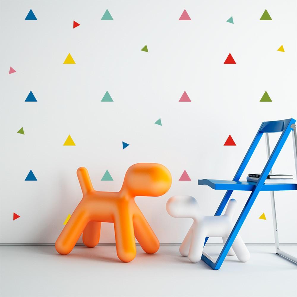Kit de Adesivos Infantis Triângulos Coloridos