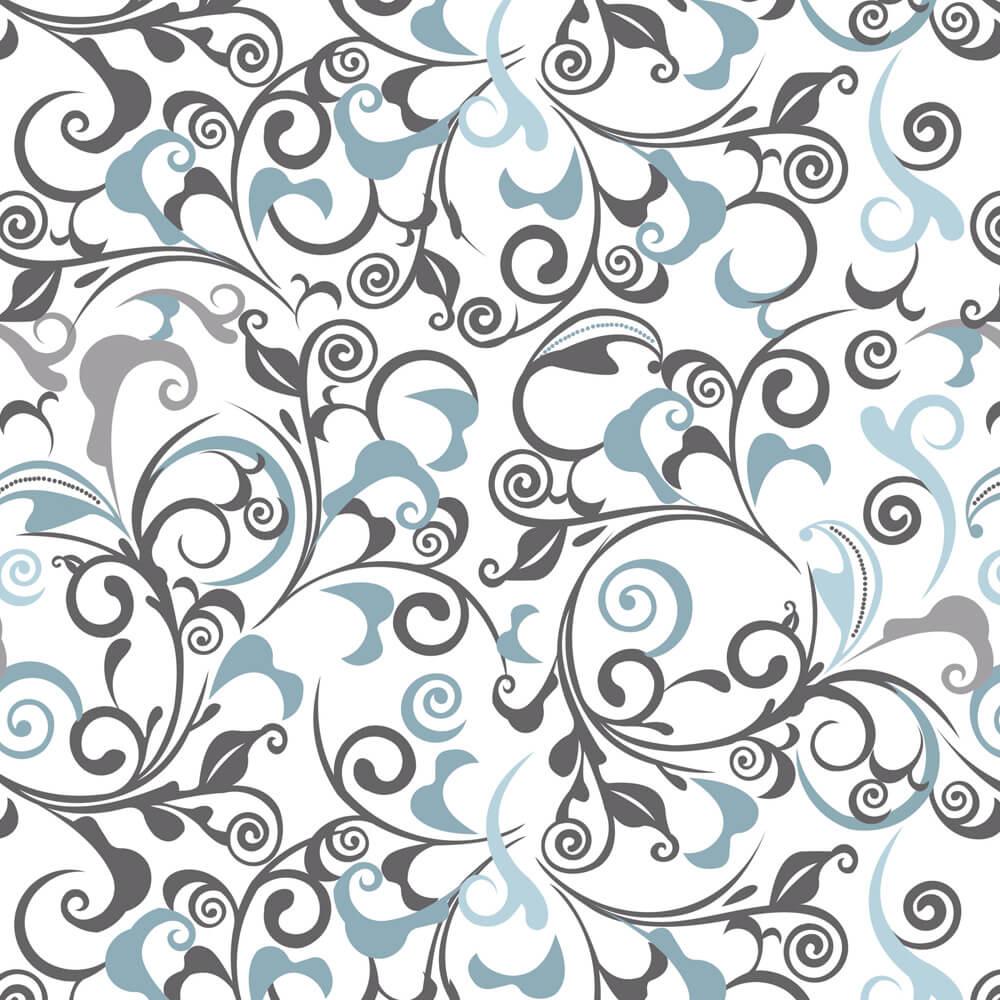 Papel de Parede Abstrato Azul e Cinza