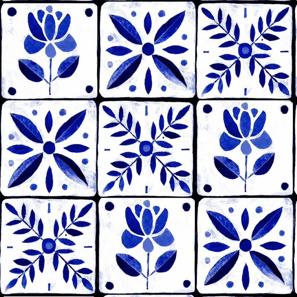 Papel de Parede Ceramica Retrô 1A