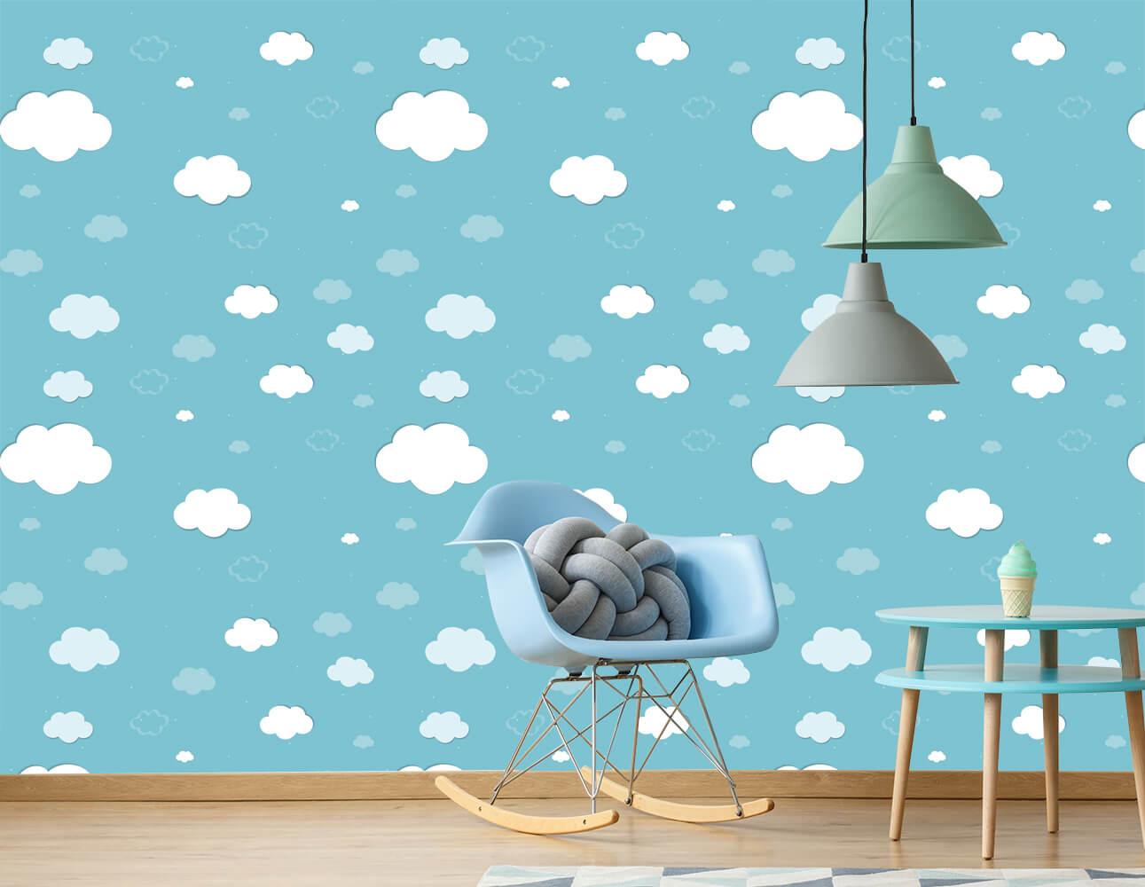 Papel de Parede Céu Nuvens Azul