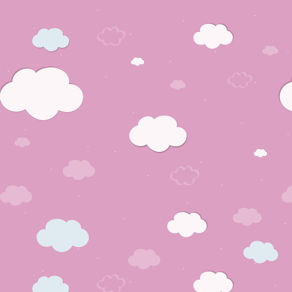 Papel de Parede Céu Nuvens Rosa