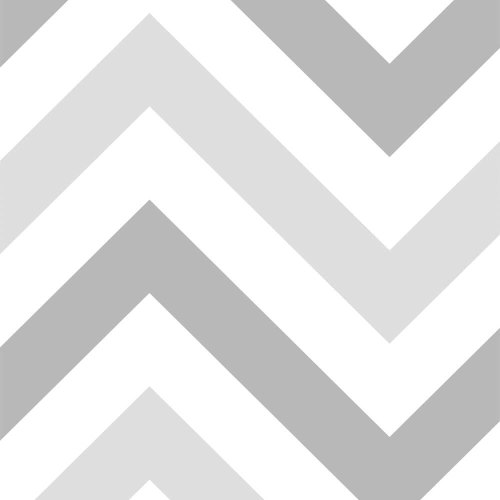 Papel de Parede Chevron Cinza e Branco