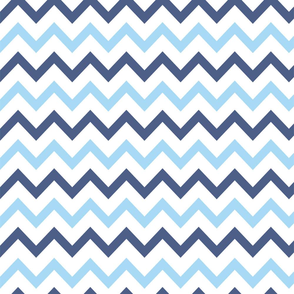 Papel de Parede Chevron Tons Azul