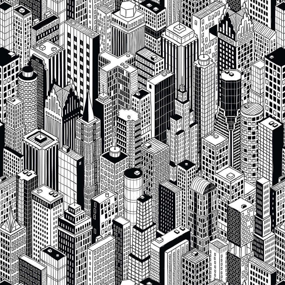 Papel de Parede 3D - Cidade 1
