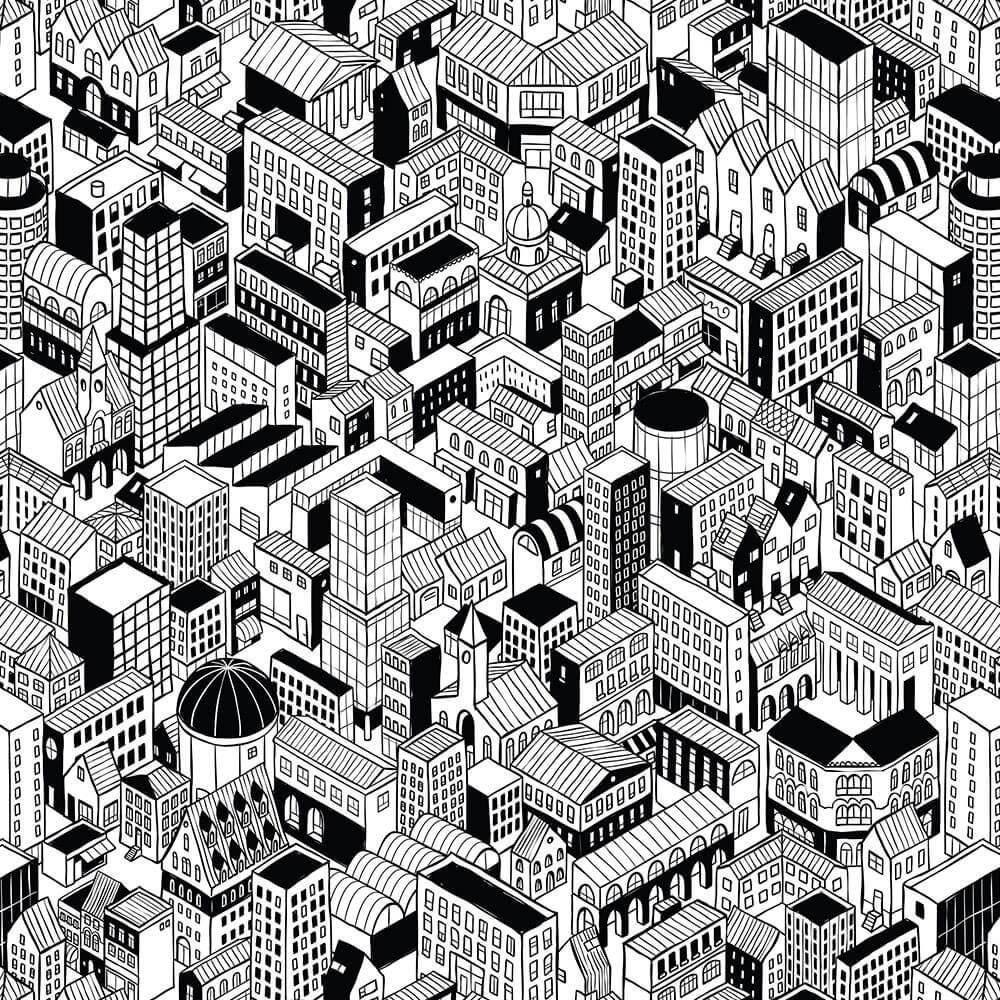 Papel de Parede 3D - Cidade 2